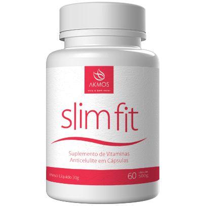 Suplemento Anti Celulite Emagrecedor Slim Fit Akmos 60 Caps