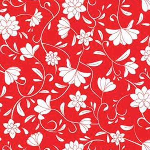 Papel De Parede Galia Vinil 46-4 Floral Vermelho