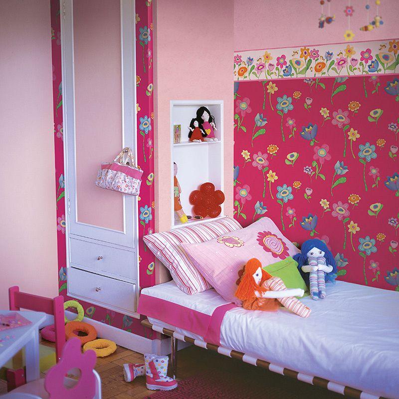 Papel de Parede florido pink cuentos 7809-3