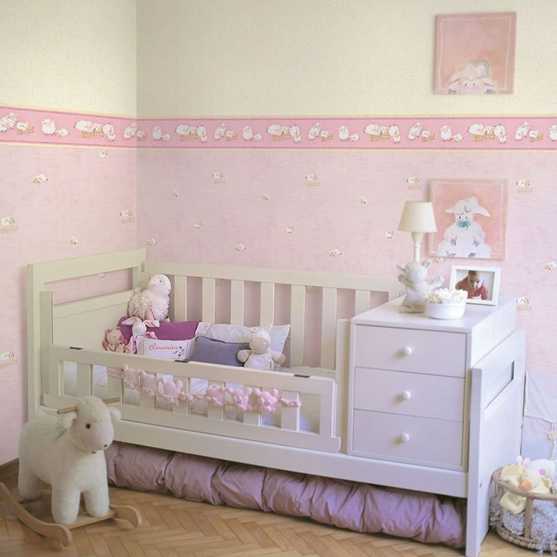 Papel de Parede ovelhas rosas cuentos 7803-1