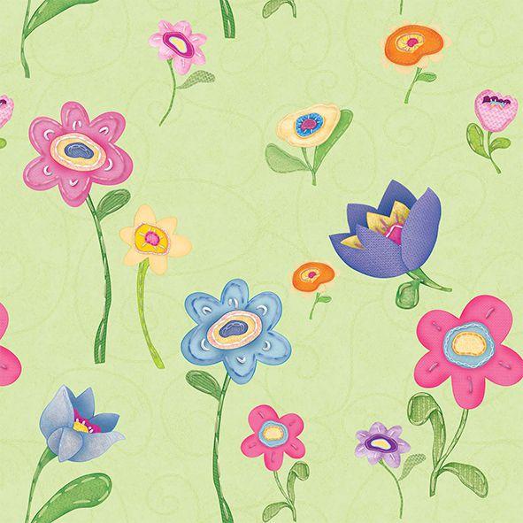 Papel de Parede Florido cuentos 7809-1
