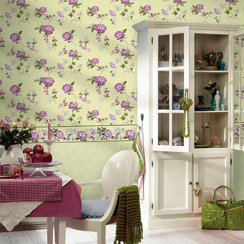 papel de parede Flores lilás casabella 105-2