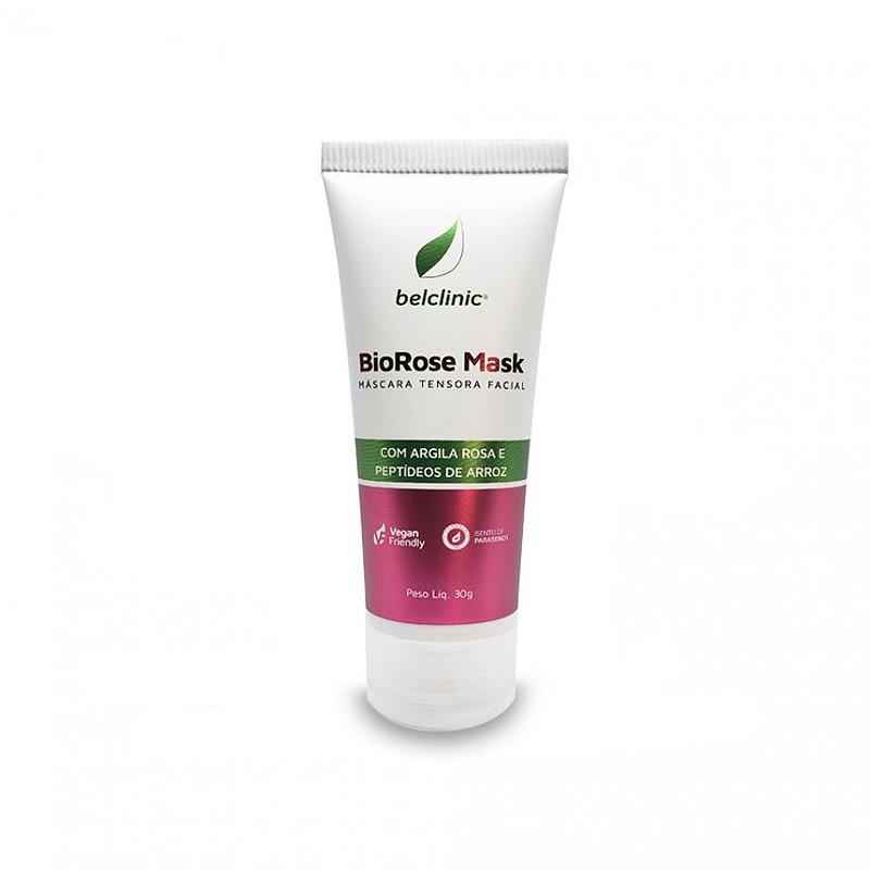 BIOROSE MASK - Máscara tensora facial de argila rosa - 10 sachês de 5g - (efeito cinderela natural) - Único