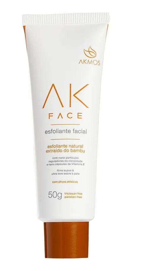 Esfoliante Facial Ak Face Natural Extraído D Bambu 50g Akmos