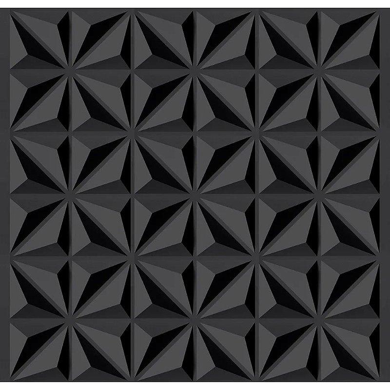 Placa  Decorativa Pvc Adesivada Dark STELLA Premium Preto Fosco 50x50cm