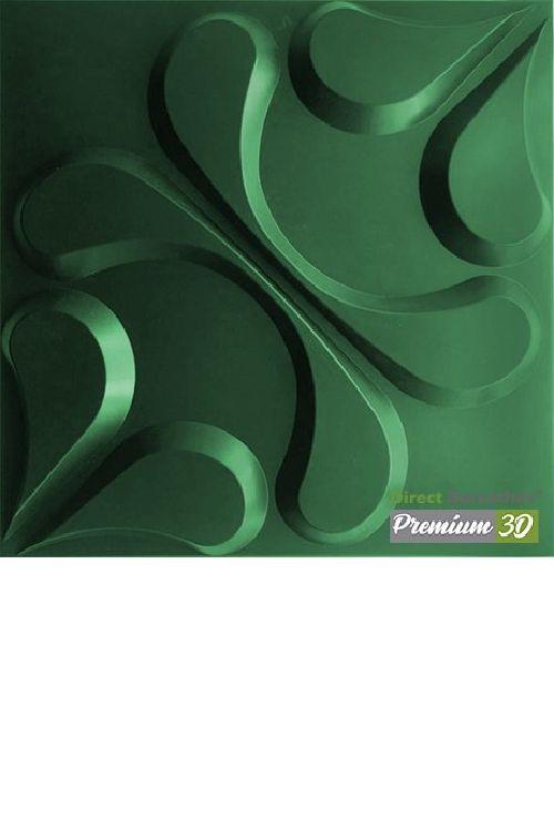 KIT C/22 PLACAS REVESTIMENTO 3D  ARABESCO VERDE  30X30cm P3D01