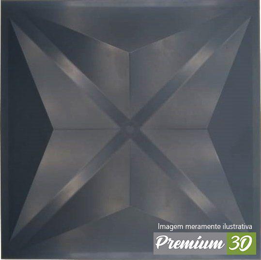KIT C/22 PLACAS REVESTIMENTO 3D DIAMANTE CINZA ESCURO  30X30cm