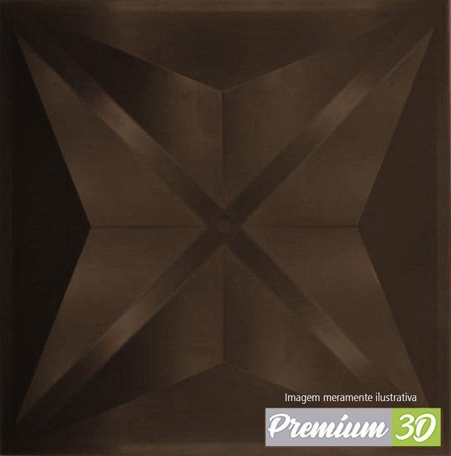 KIT C/22 PLACAS REVESTIMENTO 3D DIAMANTE MARROM  30X30cm