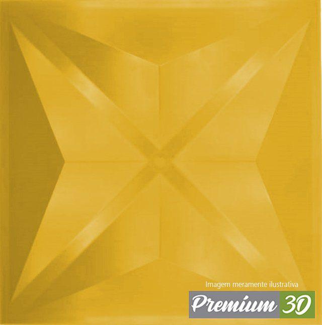KIT C/22 PLACAS REVESTIMENTO 3D DIAMANTE AMARELO  30X30cm