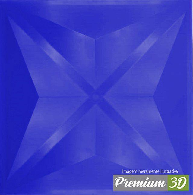 KIT C/22 PLACAS REVESTIMENTO 3D DIAMANTE AZUL  30X30cm