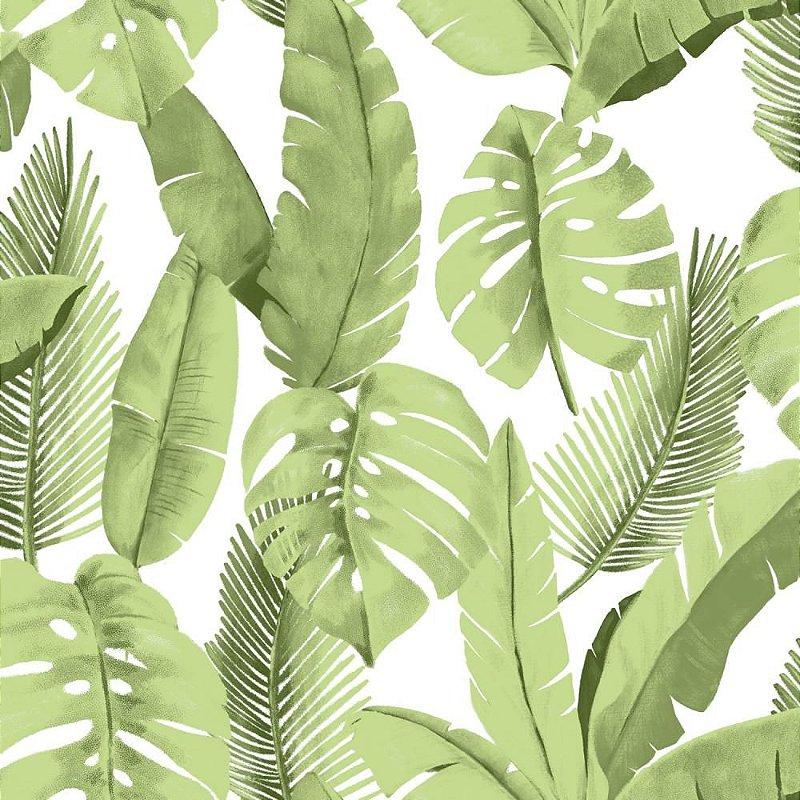 Papel de Parede ATEMPORAL - 3702 Folhas verdes