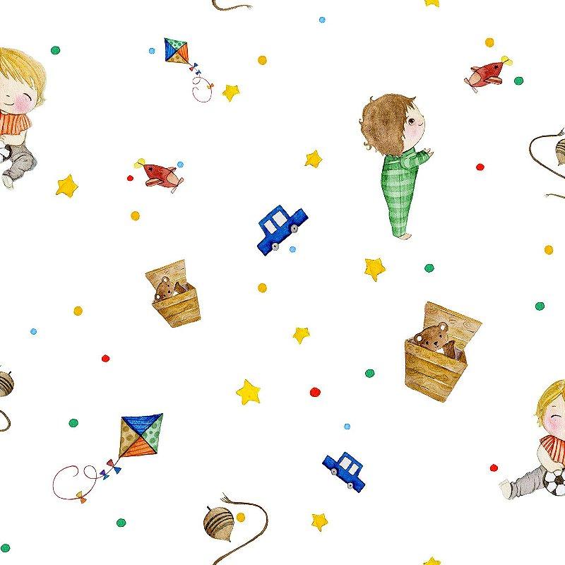 Papel de Parede Infantil Brinquedos Coleção Brincar 3615
