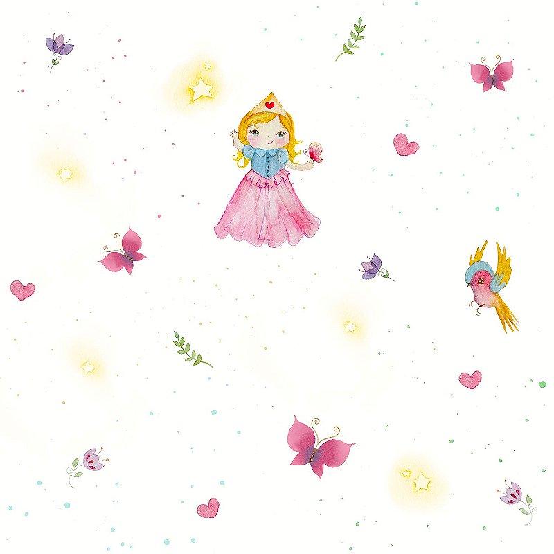 Papel de Parede Infantil Princesa  Coleção Brincar 3609