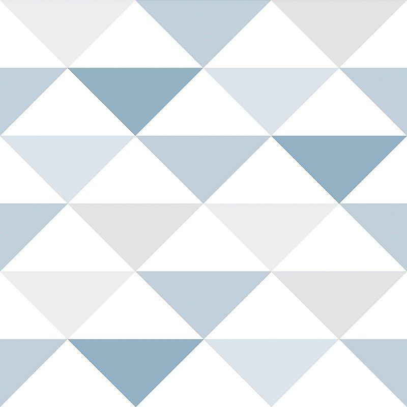 Papel de Parede Infantil Geométrico Triangulo Azul  - Coleção Brincar 3601