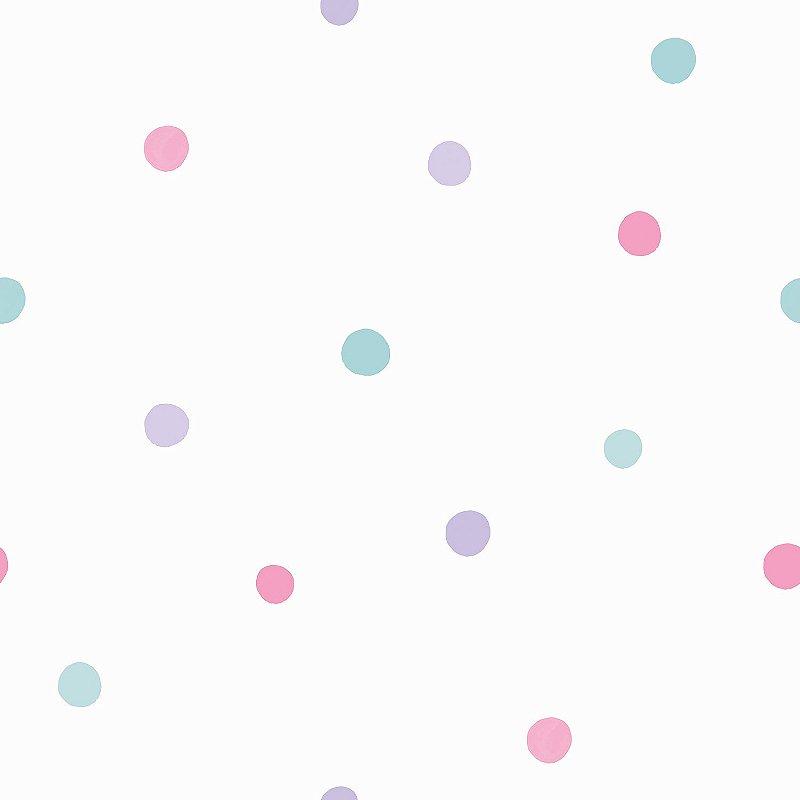 Papel de Parede Infantil Poá Colorido - Coleção Brincar 3626