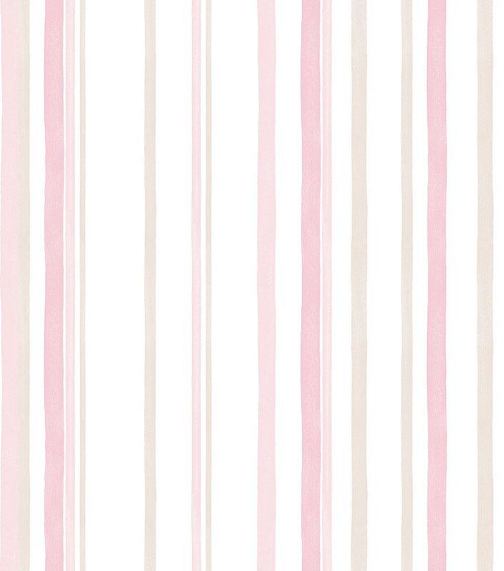 Papel de Parede Infantil Listra Rosa - Coleção Brincar 3610