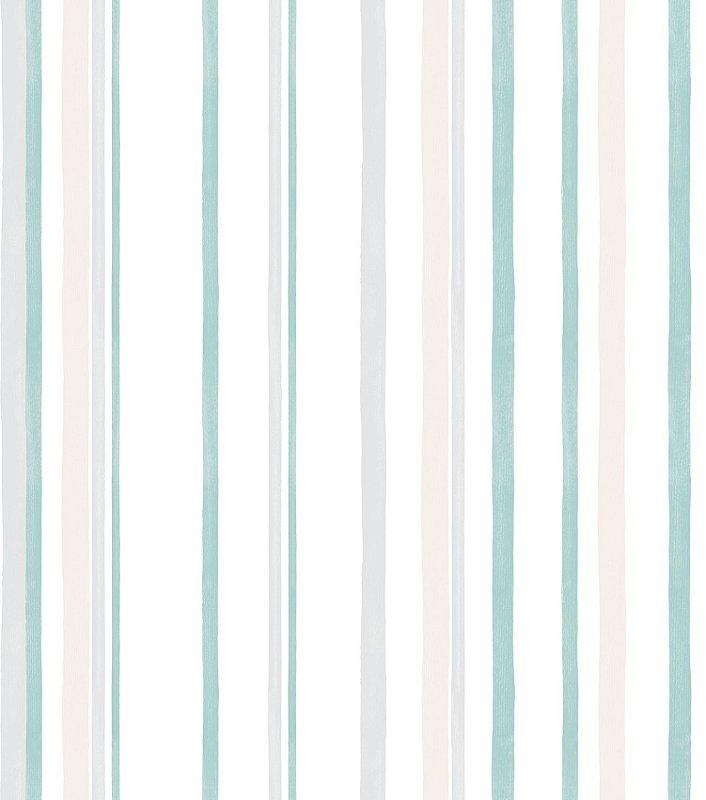 Papel de Parede Infantil Listra Azul e cinza  - Coleção Brincar 3604