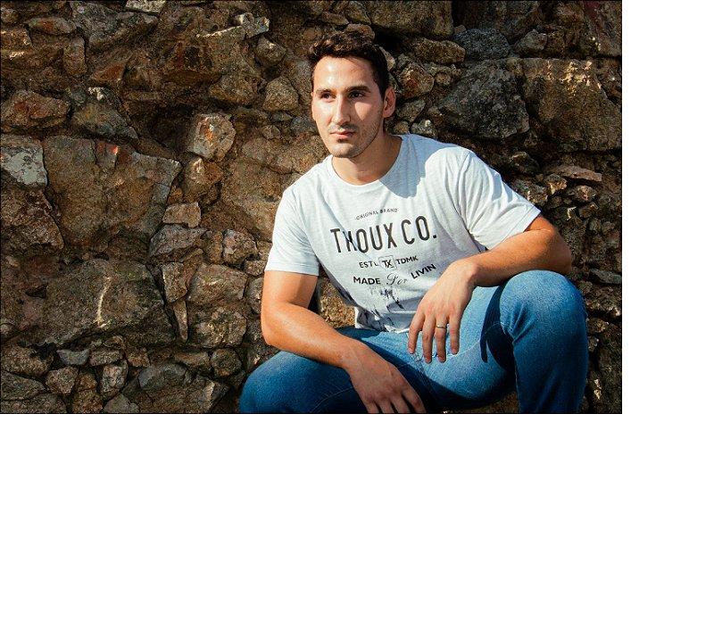 Camiseta Thoux Branca - Malha Fio 30/1 Penteado