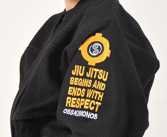 Kimono Jiu Jitsu Oss Infantil Trançado Preto