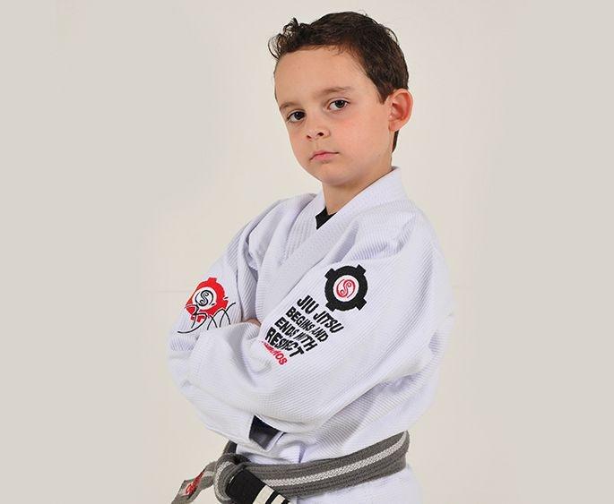 Kimono Jiu Jitsu Oss Infantil Trançado Branco