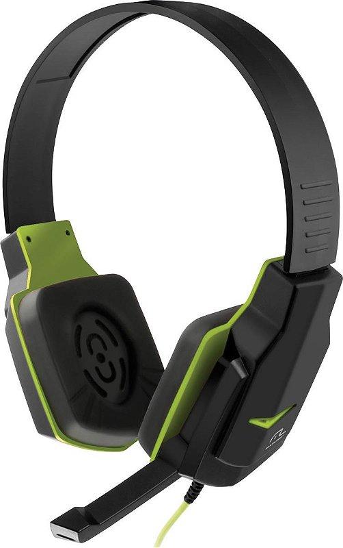 Headset Gamer Multilaser Controle de Volume PH146 Preto/Verde