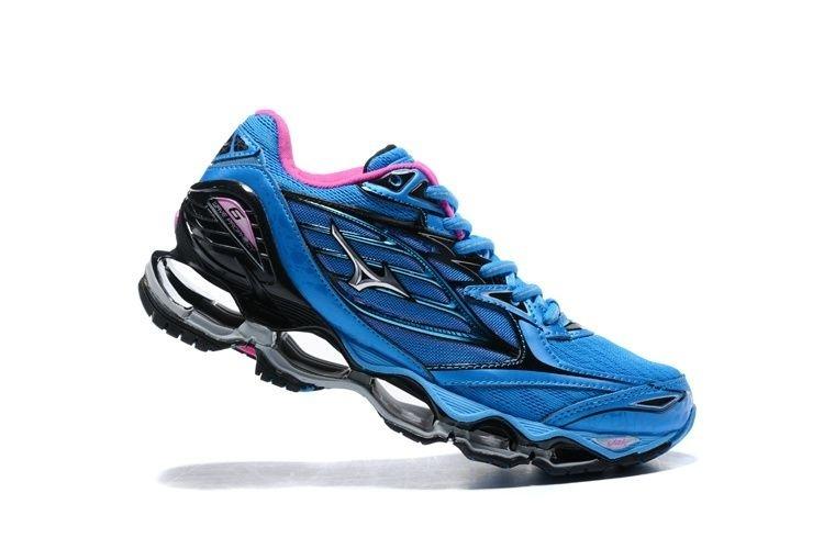 6fa73b68999c Tênis Mizuno Wave Prophecy 6 - Feminino - Azul e Rosa - Os Melhores ...
