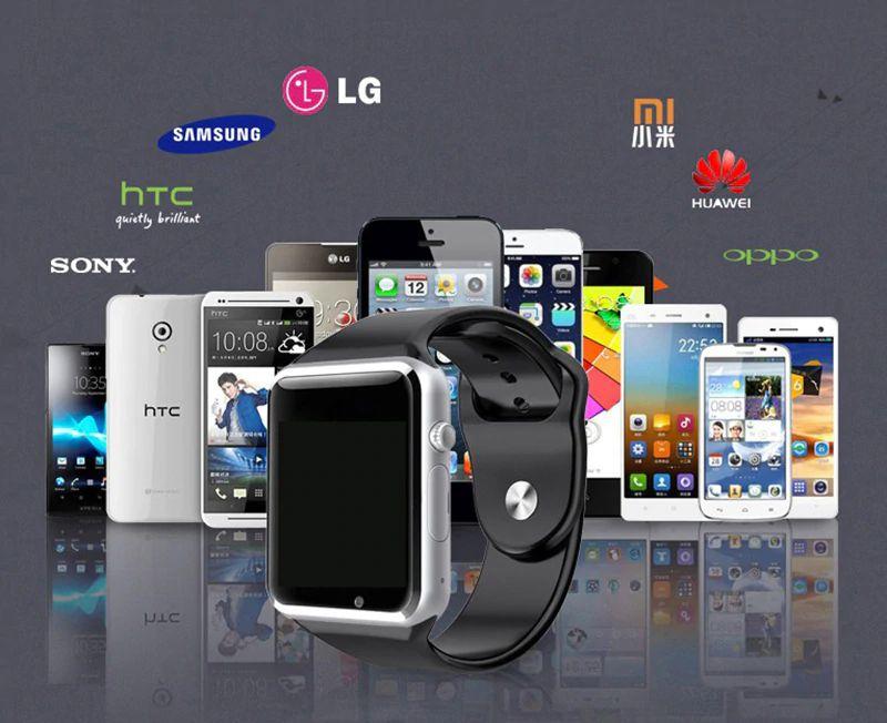 914961e6b01 A1 Homens Relógio Inteligente Bluetooth Relógio de Pulso Do Esporte ...