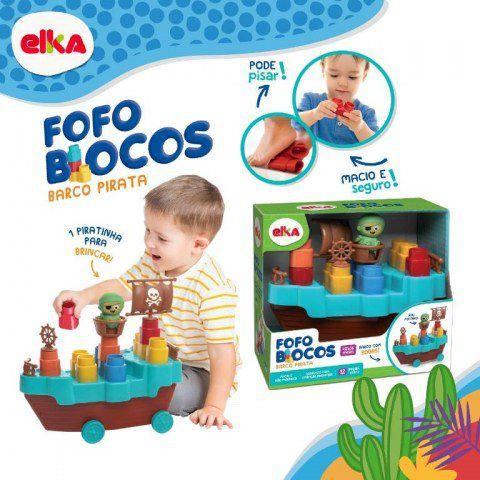 Fofo Blocos - Barco Pirata – 13 pçs