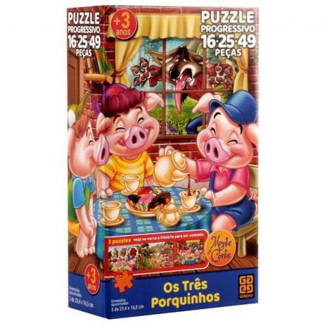Puzzle Progressivo - Os Três Porquinhos
