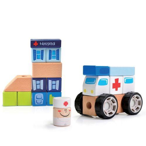 Construindo com bloquinhos Emergência- ambulância