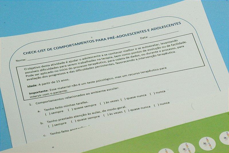 Checklist de Comportamentos para pré-adolescentes e adolescentes em PDF