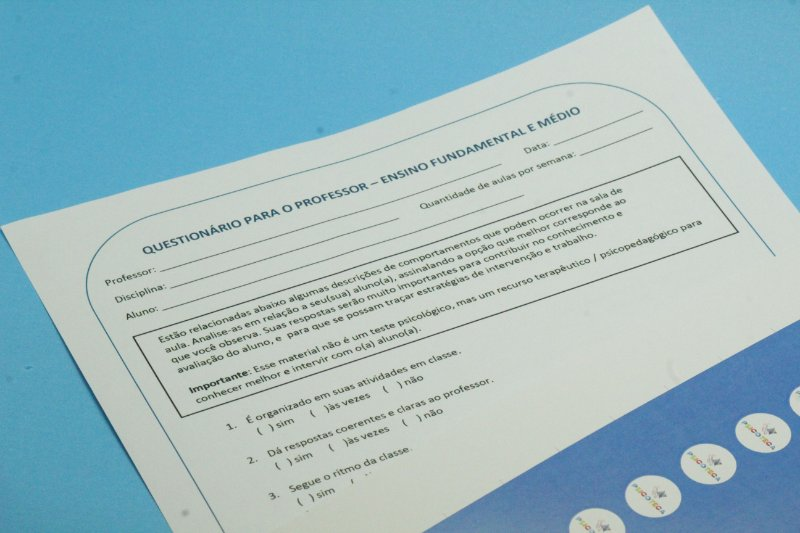 Questionário para o Professor em PDF