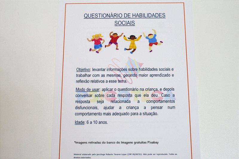 Questionário de Habilidades Sociais em PDF
