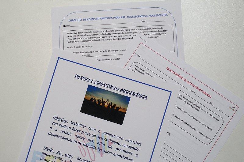 Combo Adolescente de Materiais de Intervenção em Psicologia / Psicopedagogia - PDF