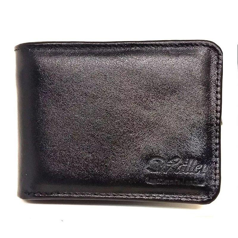 Carteira Wallet Couro Legitimo Preta 060