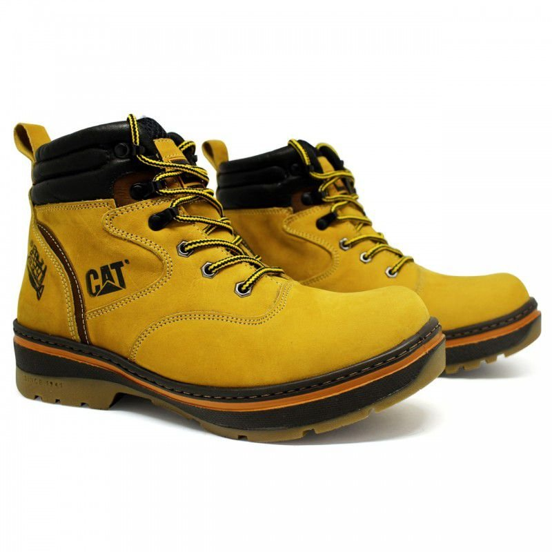 -Bota caterpilar lumberjack amarela 1