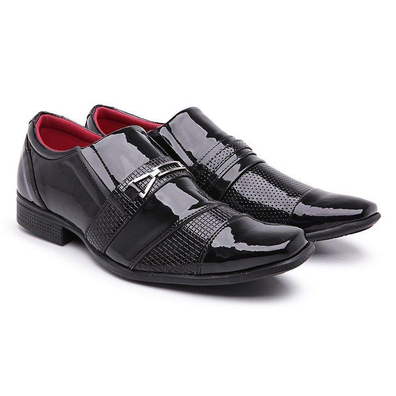 Sapato social  bico fino lazer quadradinho