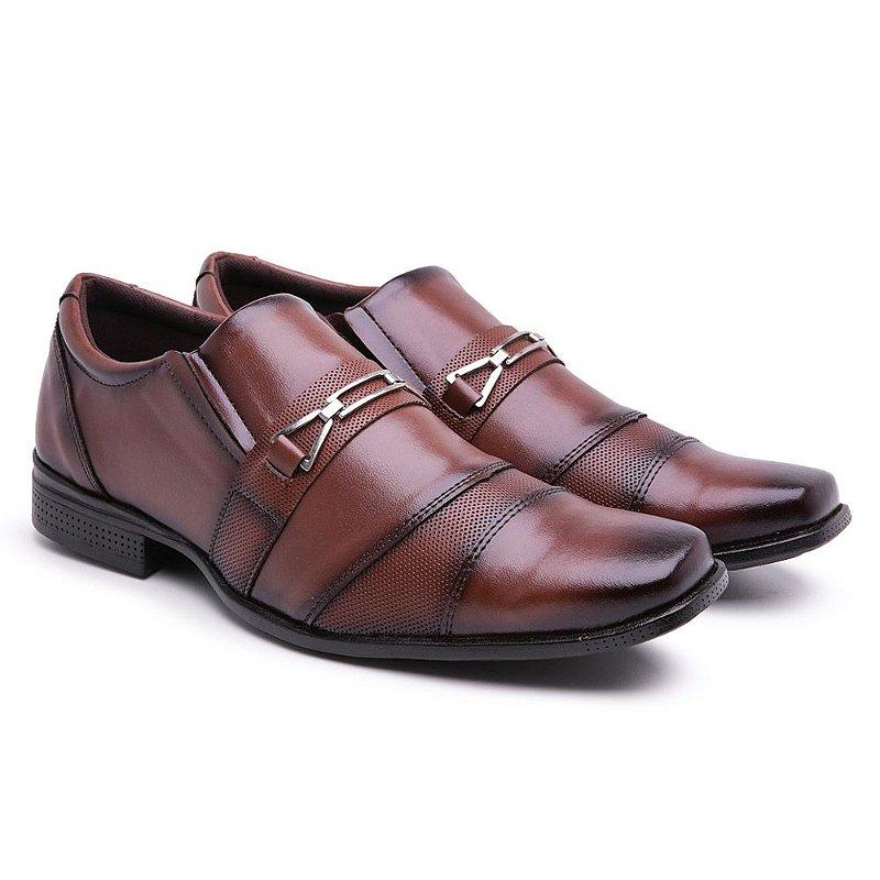 Sapato social  lazer Capuccino furadinho