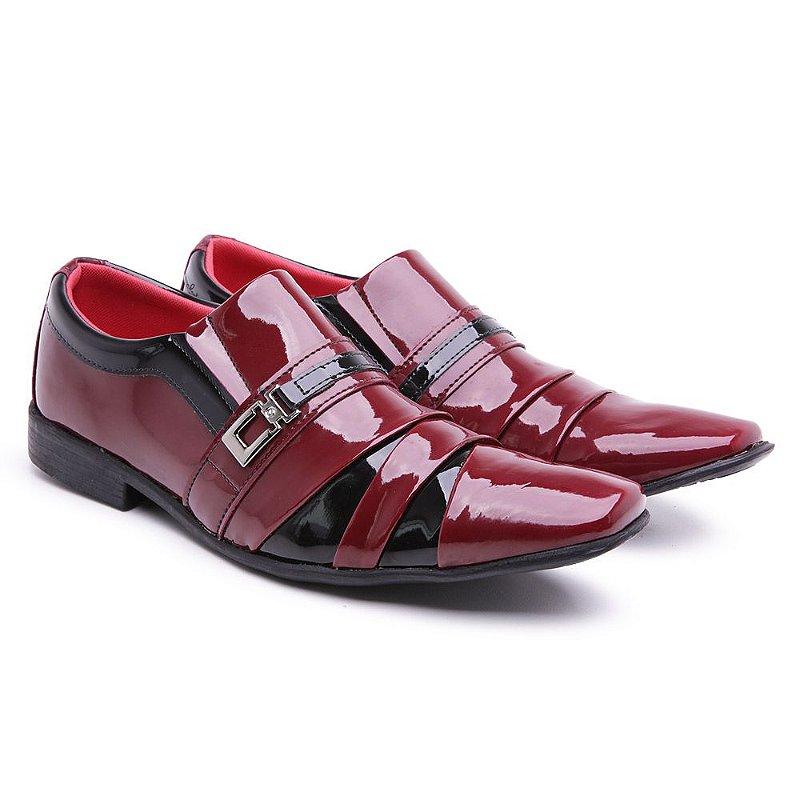 Sapato social  lazer Veniz Vermelho-Preto 1505