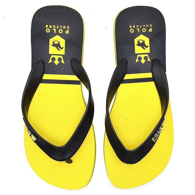 Chinelo Polo Confort Amarelo