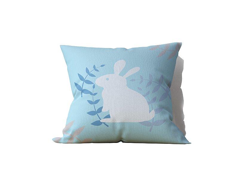 Capa de Almofada decorativa avulsa estampa Pascoa Azul Claro - 45x45cm