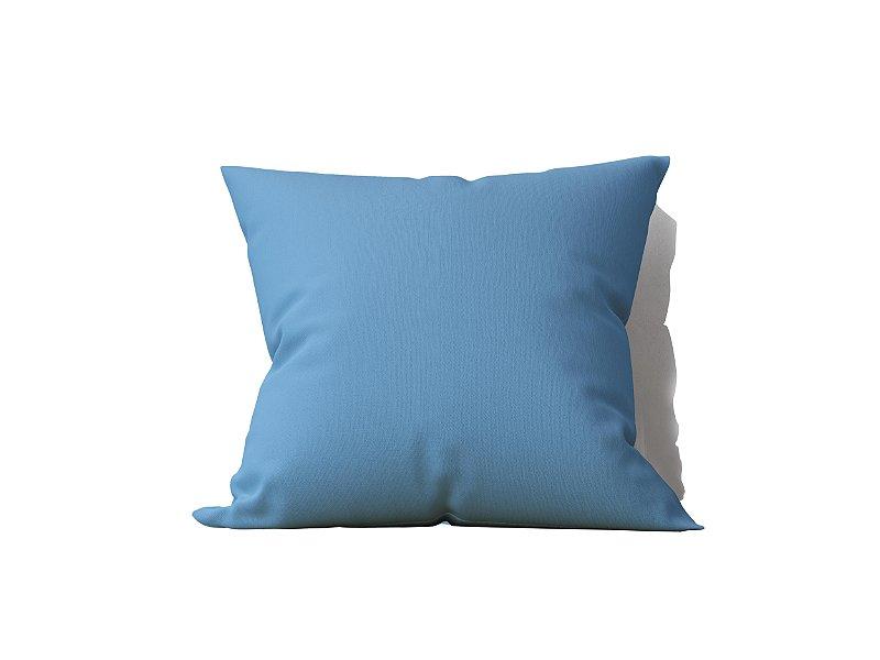 Capa de Almofada decorativa avulsa lisa Azul - 45x45cm