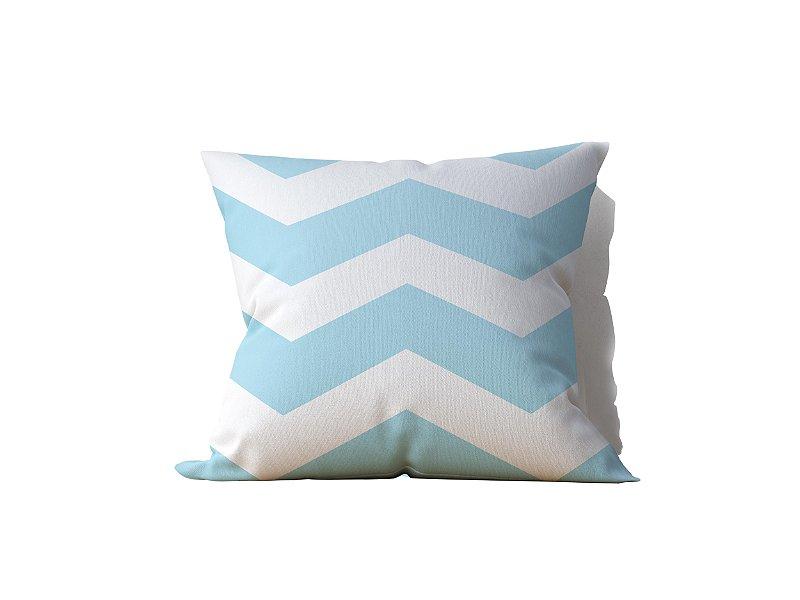 Almofada decorativa White & Soft Blue - 45x45cm - by AtHome Loja