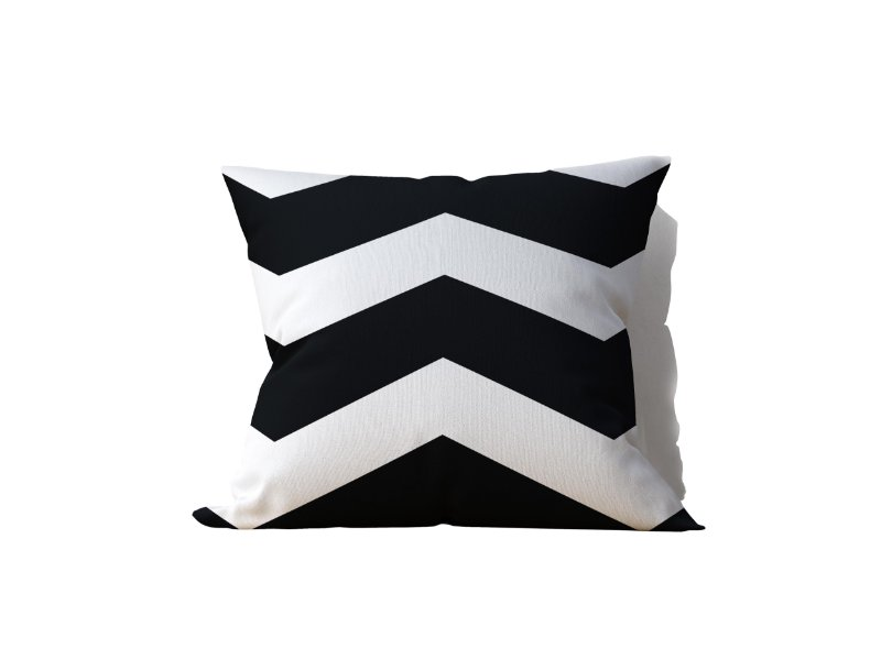 Almofada decorativa White & Black Decor - 45x45cm - by AtHome Loja