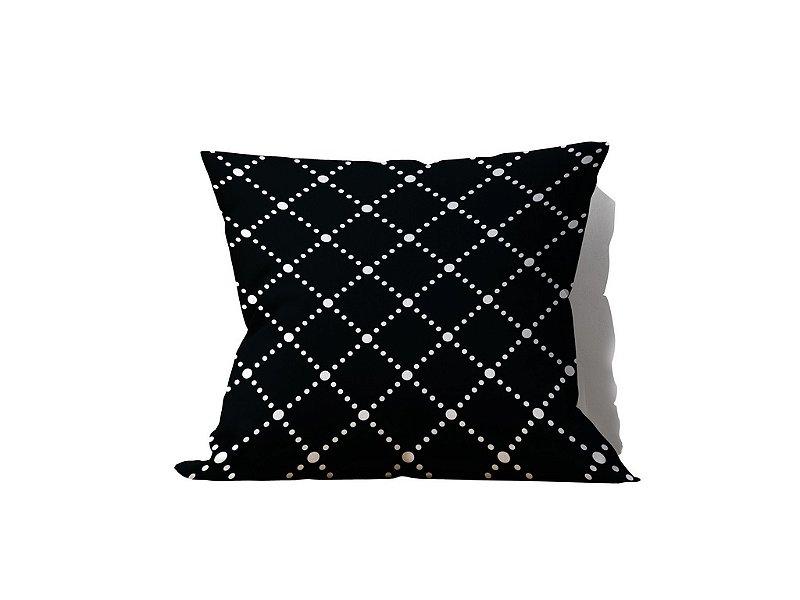 Almofada decorativa Noir Blanche - 45x45 - by AtHome Loja