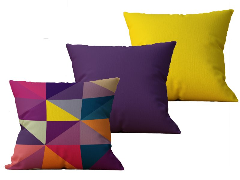Kit com 3 Almofadas decorativas Geo Collor - 45x45 - by AtHome Loja