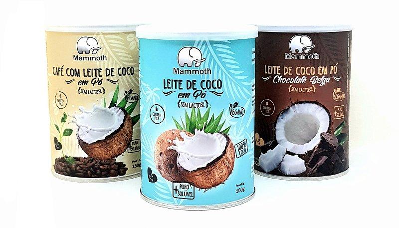 Trio Leite de Coco (Café, Chocolate Belga e Coco Puro 100%)