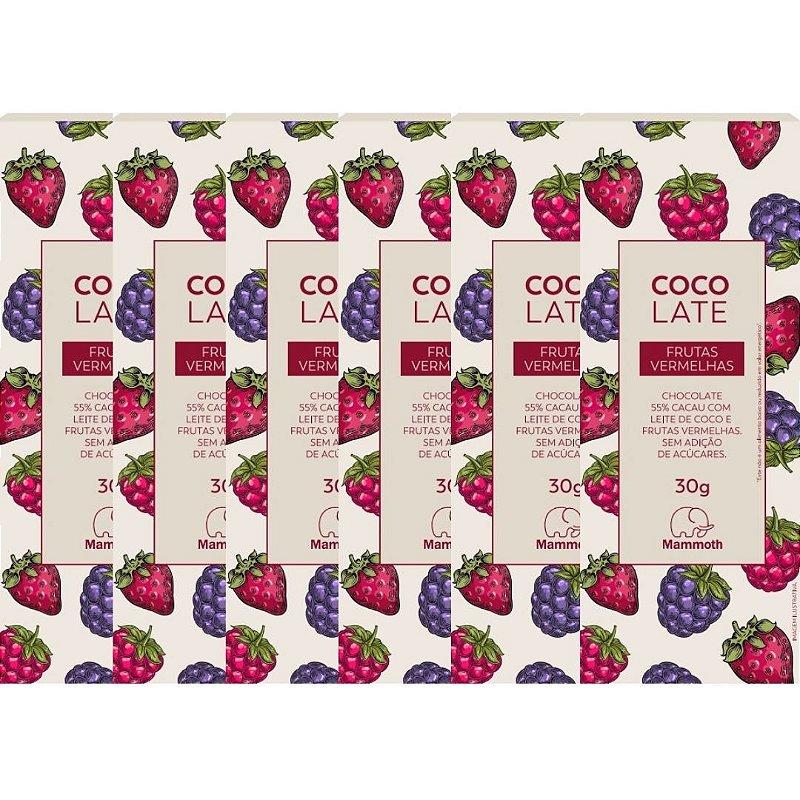 CocoLate 55% Cacau Frutas Vermelhas - 6 unidades