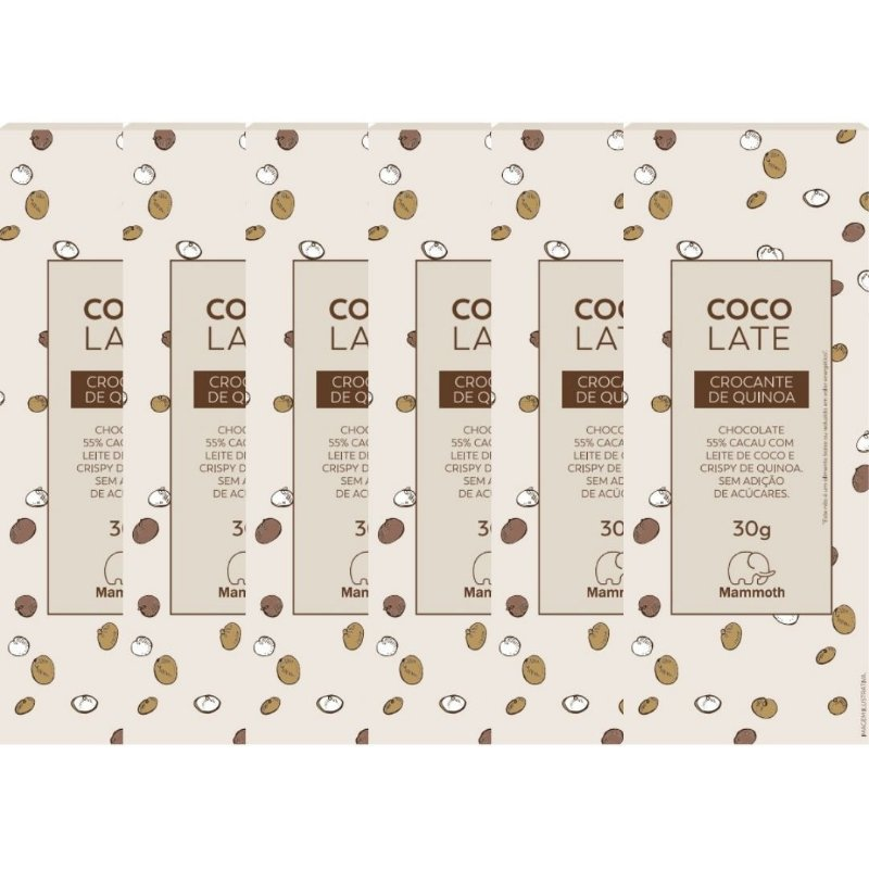 CocoLate 55% Cacau Crocante de Quinoa - 6 unidades