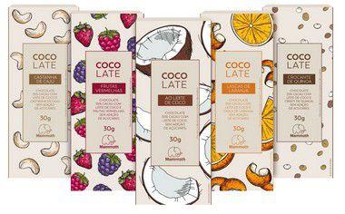 Kit Degustação - CocoLate 55% cacau com 20 unidades (5 sabores sendo 4 unidades de cada)
